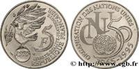 5 francs Cinquantenaire de l'ONU 1995  V REPUBLIC 1995 (29mm, 10g, 6h )... 160,00 EUR