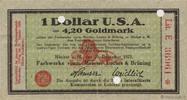 1 Dollar 1923 GERMANY GERMANY 1 Dollar 1923 SUP+ VZ+  360,00 EUR  zzgl. 10,00 EUR Versand