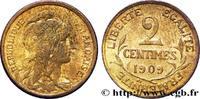 2 centimes Daniel-Dupuis 1909  III REPUBLIC 1909 (20mm, g, 6h ) VZ  130,00 EUR  zzgl. 10,00 EUR Versand