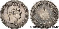 5 francs type Tiolier sans le I, tranche en creux 1830  LOUIS-PHILIPPE ... 250,00 EUR  zzgl. 10,00 EUR Versand