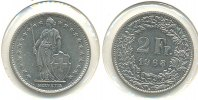 Schweiz 2 Franken Kursmünze