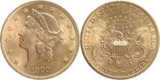 20 Dollars GOLD 1900 U.S.A. Double Eagle f...