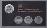 DDR 20 Mark + 3 x 5 Mark Themensatz Martin Luther-Ehrung