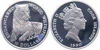 Cook Islands 10 Dollars Silber Tiger