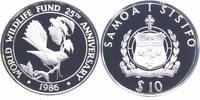10 Tala Silber 1986 Samoa 25 Jahre WWF, Fächerschwanz PP Proof in Kapsel  20,00 EUR  zzgl. 4,00 EUR Versand