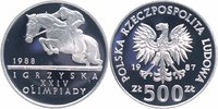 Polen 500 Zlotych Silber 1987 PP Proof in ...