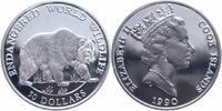 Cook Islands 50 Dollars Silber Gefährdete Tierwelt, Grizzly
