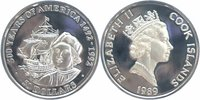 Cook Islands 50 Dollars Silber 1989 PP Pro...