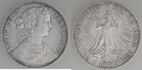 Taler 1860 Frankfurt Francofurtia sehr schön+  39,00 EUR  zzgl. 6,00 EUR Versand