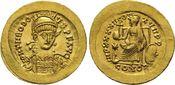 Solidus 441-450 n.Chr. Constantin RÖMISCHE...