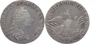 Taler 1785  A Brandenburg-Preussen Friedri...