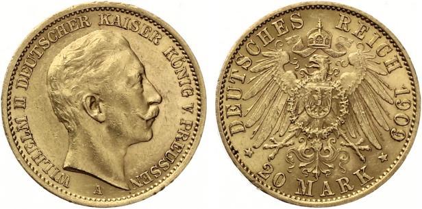 20 Mark Wilhem Ii von Preussen 1909