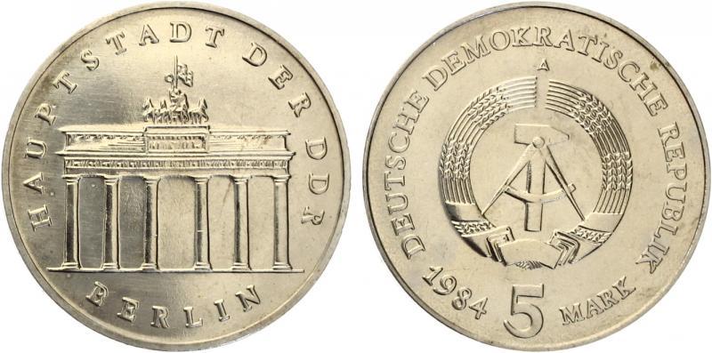 5 Mark Brandenburger Tor 1984