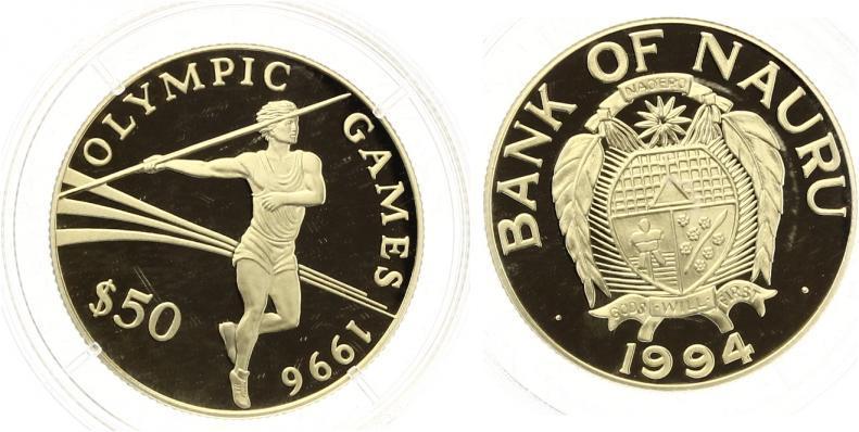 Nauru 50 Dollars Goldmünze 1994
