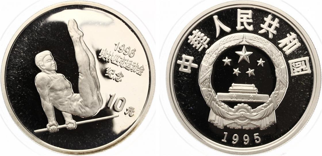 10 Yuan China 1995 Olympische Spiele Reckturnen