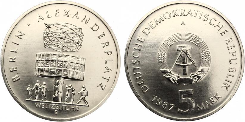 5 Mark Alexanderplatz / Weltzeituhr 1987