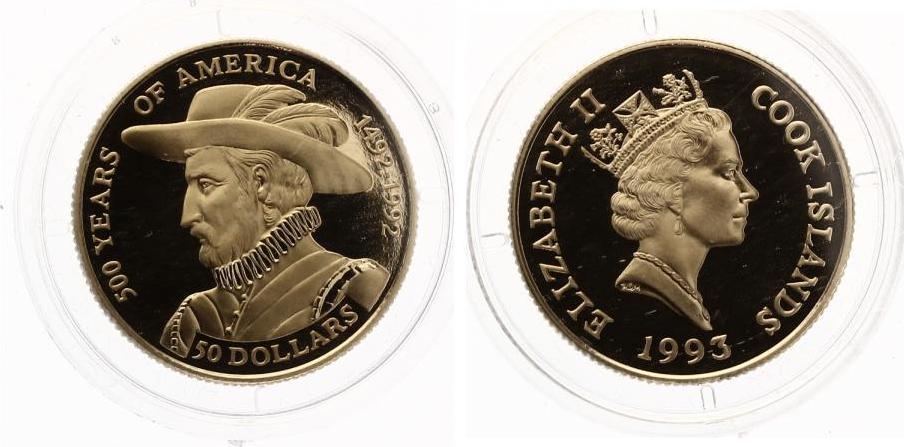Nzl Dollars Cook Islands Kolumbus  Jahre Amerika