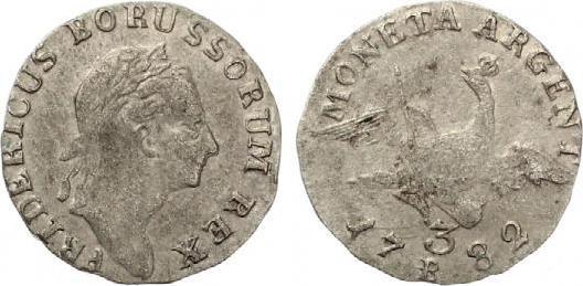 3 Kreuzer Königreich Preussen Friedrich Ii 1782 B