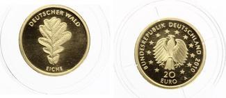 2010 A  20 Euro Eiche 2010 Gold ohne Zert...