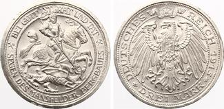 1915  3 Mark Preussen 1915 Segen des Mans...