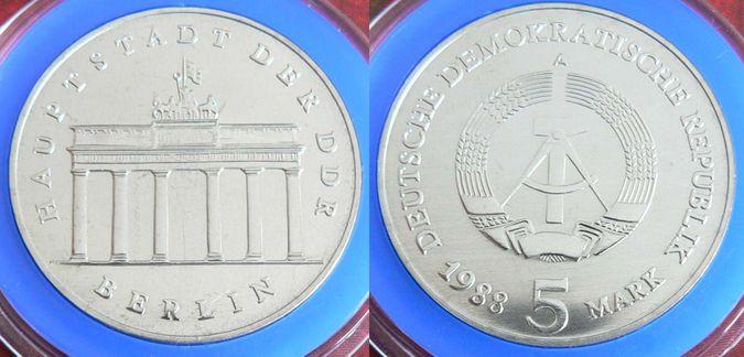 5 Mark Brandenburger Tor 1988