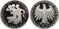 1972 J  10 DM olympische Spiele Sportler pp  12,50 EUR  zzgl. 1,70 EUR Versand