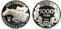 1995  1000 Lewa Bulgarien 1995  Springreiten 23,33 Gr. 925 Silber pp  23,50 EUR  zzgl. 1,70 EUR Versand
