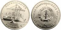 1988  5 Mark Überseehafen Rostock bankfrisch  6,00 EUR  zzgl. 1,70 EUR Versand