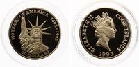 50 NZL Dollars Cook Islands Freiheitstatue 500 Jahre Amerika 7,78g 583,3 Gold