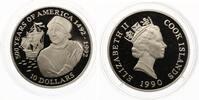 1990  10 Dollars Cook Islands Kolumbus 1990 pp  15,00 EUR  zzgl. 1,70 EUR Versand