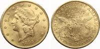 1895 S  USA 20 Dollars 1895 Gold vz  1395,00 EUR