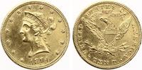 1894  USA 10 Dollars 1894 Gold vz  585,00 EUR