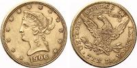 1906 D  USA 10 Dollars 1906 D Gold vz  585,00 EUR