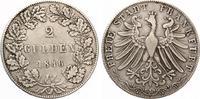 1848  Frankfurt Doppelgulden 1848 ss  80,00 EUR  zzgl. 4,00 EUR Versand