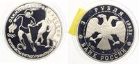 1993  Russland 3 Rubel 1993 Fussball pp  30,00 EUR  zzgl. 4,00 EUR Versand