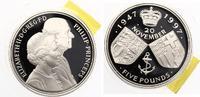 1997  Großbritanien 5 Pfund 1997 50.HOCHZEITSTAG VON KÖNIGIN ELISABETH... 26,50 EUR  zzgl. 4,00 EUR Versand