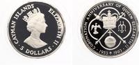 1993  CAYMAN ISLANDS 5 DOLLARS 1993 40 jähriges Krönungsjubiläum pp  25,00 EUR  zzgl. 1,70 EUR Versand
