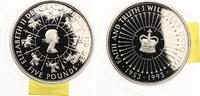 1993  Großbritanien 5 Pfund 1993 40 jähriges Thronjubiläum pp  25,00 EUR  zzgl. 1,70 EUR Versand