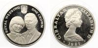 1981  Gibraltar 1 Crown 1991 Hochzeit Diana und Prince Charles pp  22,00 EUR  zzgl. 1,70 EUR Versand