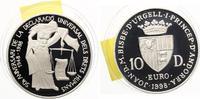 1998  Andorra 10 Diners 1998 Menschenrechte pp  28,50 EUR  zzgl. 4,00 EUR Versand