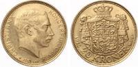 1913  Dänemark 20 Kroner 1913 ChristIAN X vz  335,00 EUR  zzgl. 4,00 EUR Versand