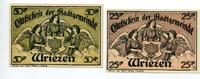 1921-1922  Wriezen 25 Pfennig - 50 Pfennig Mehl 1456.1 1  6,00 EUR  zzgl. 1,70 EUR Versand