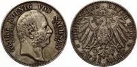 1904  2 Mark Sachsen Georg auf den Tod Jaeger 133 vz Patina  70,00 EUR  zzgl. 4,00 EUR Versand