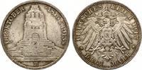 1913  3 Mark Völkerschlacht vz/prägefrisch  35,00 EUR  zzgl. 4,00 EUR Versand