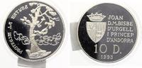 1993  ANDORRA 10 Diners 1993 Protect our World Silber pp  30,00 EUR  zzgl. 4,00 EUR Versand