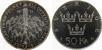 1975  Schweden 50 Kronen Verfassungsreform ST  22,50 EUR  zzgl. 1,70 EUR Versand