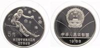 1988  China 5 Yuan 1988 'Ski Slalomläufer' Abfahrtski SELTEN Olympia C... 185,00 EUR  zzgl. 4,00 EUR Versand