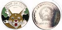 1996  Vietnam 100 Dong 1996 Silber pp farbig  135,00 EUR  zzgl. 4,00 EUR Versand