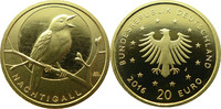 20 Euro 2016 Deutschland 20€ Gold Heimische Vögel - Nachtigall 'J' stgl... 199,00 EUR  zzgl. 5,00 EUR Versand