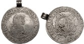 1/2 Wechseltaler 1671 CR Sachsen Johann Ge...
